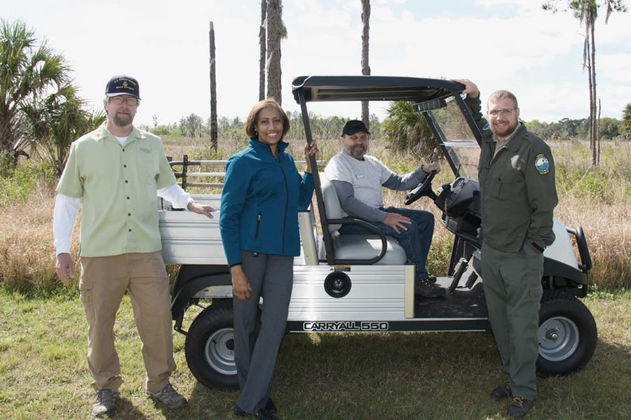 Getting Around: FoA Purchases Club Car Carryall for Campground Hosts