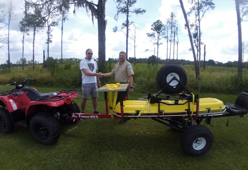 Friends of Alafia Invest in Park Emergency Transportation Equipment